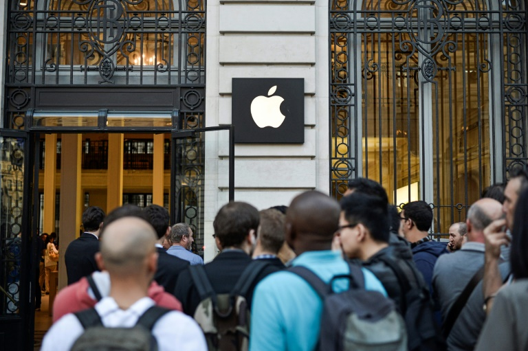 Un magasin Apple à Paris, le 6 septembre 2014