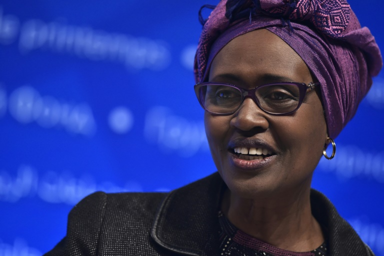 Winnie Byanyima, directrice exécutive d'Oxfam International, le 17 avril 2016 à Washington