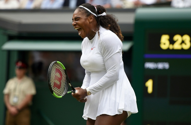 Serena Williams, le 4 juillet, à Wimbledon