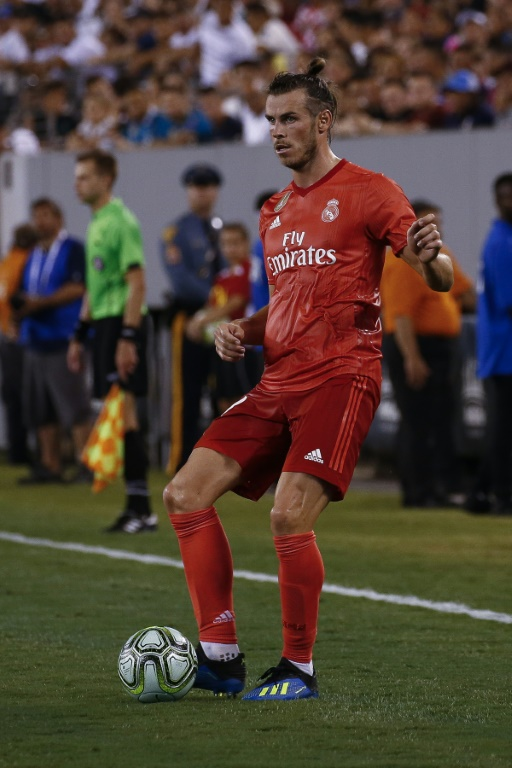 L'attaquant du Real Madrid Gareth Bale lors du match amical contre l'AS Rome, le 7 août 2018 à East Rutherford (New Jersey)