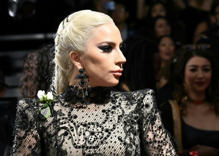 L'artiste américaine Lady Gaga aux Grammy Awards à New York, le 28 janvier 2018