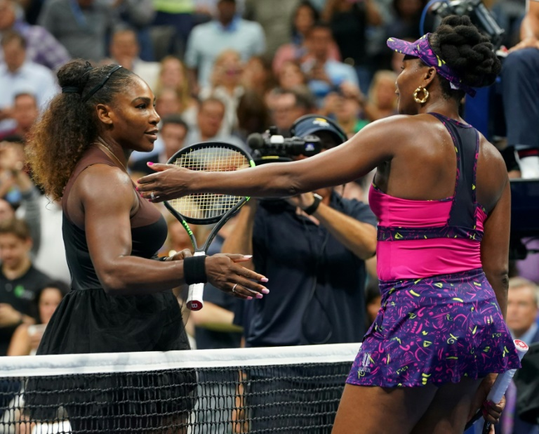 Serena Williams a battu sa soeur Venus au 3e tour de l'US Open, le 31 août 2018 à New York