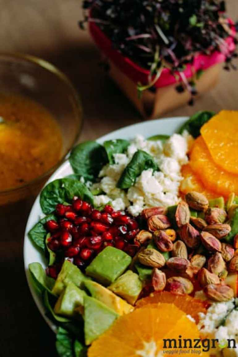 Kickstarter: Wintersalat mit Granatapfel und Orange