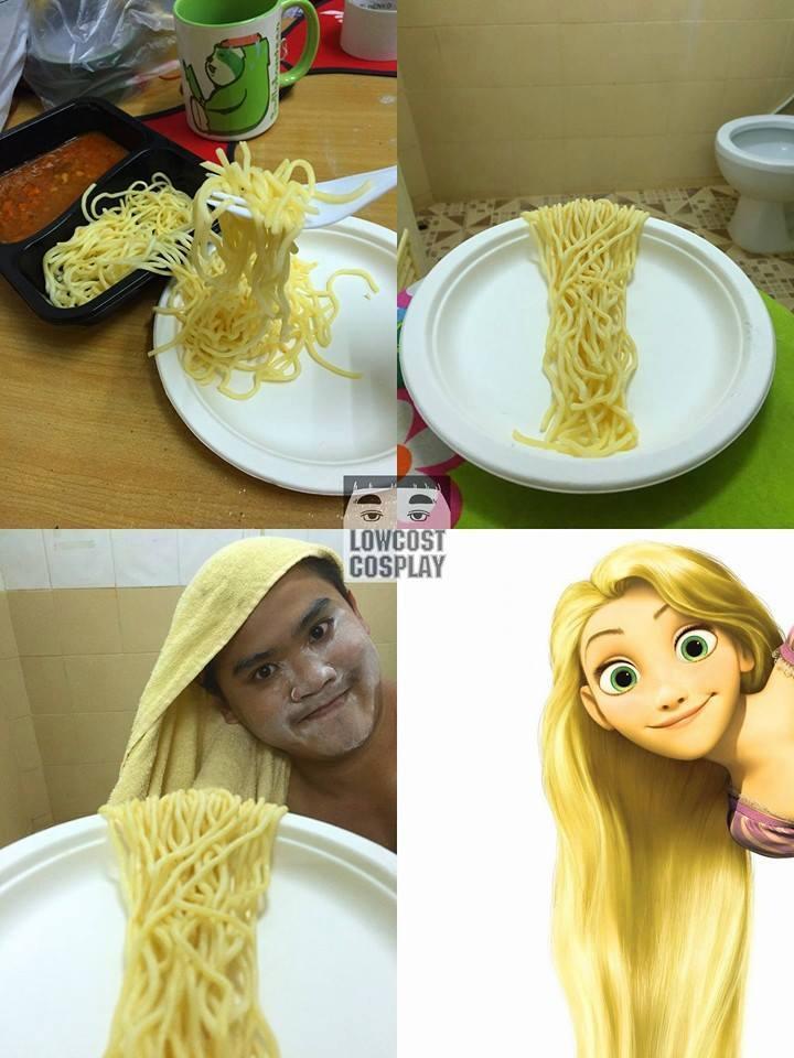 cosplay comida rapunzel