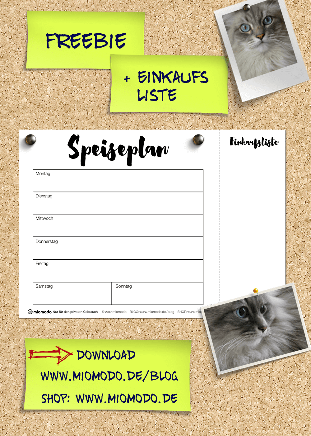 Speiseplan Kostenloser Download Miomodo Diy Blog