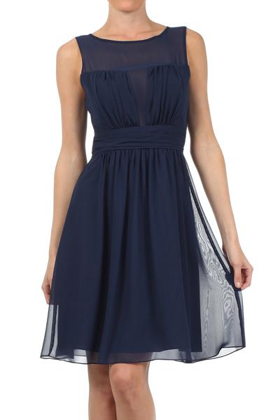 Vestido Azul Marino Gasa Mipa Fashion