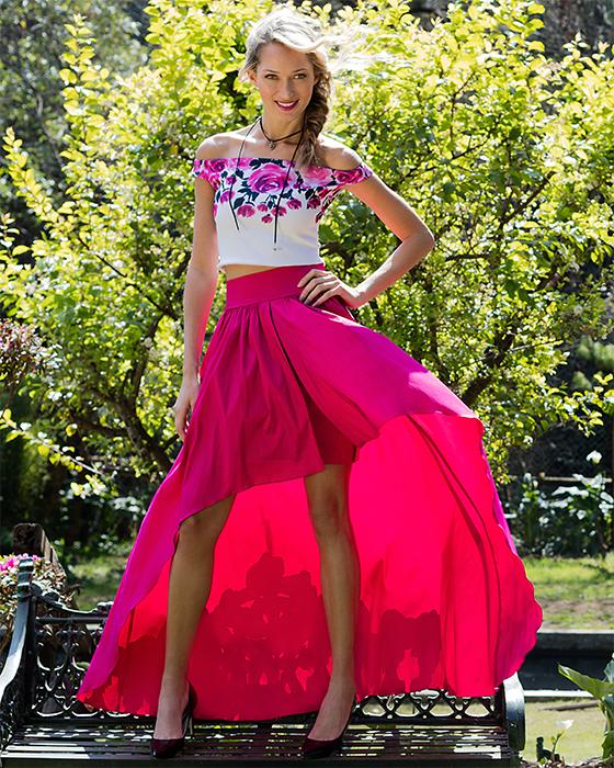 a294d96d8 Falda de cortina tafeta - Mipa fashion