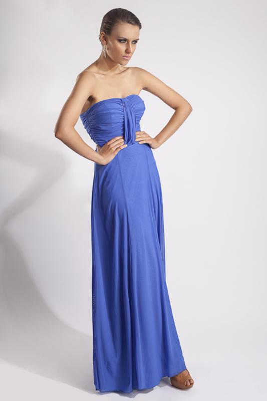 Vestidos de noche azul plumbago