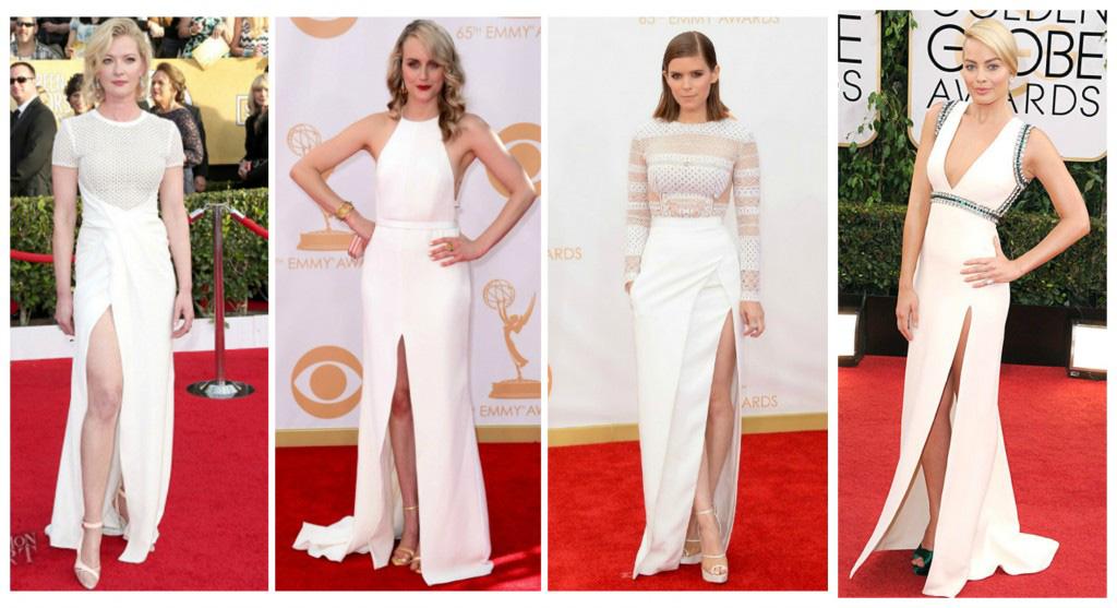 Combinar un vestido blanco con zapatos
