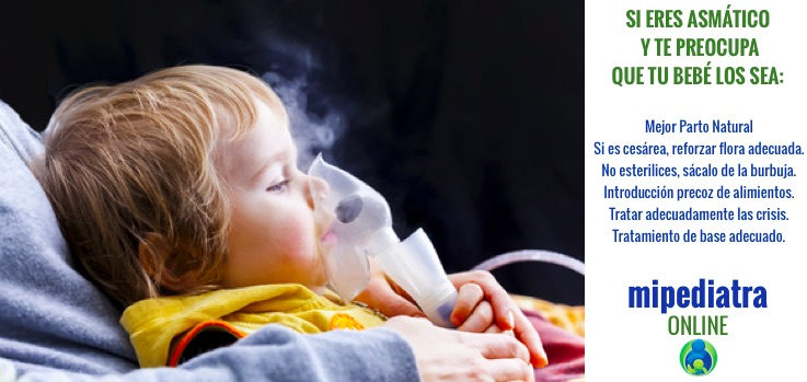 Qué hacer si tienes asma para evitar que tu hijo la sufra.