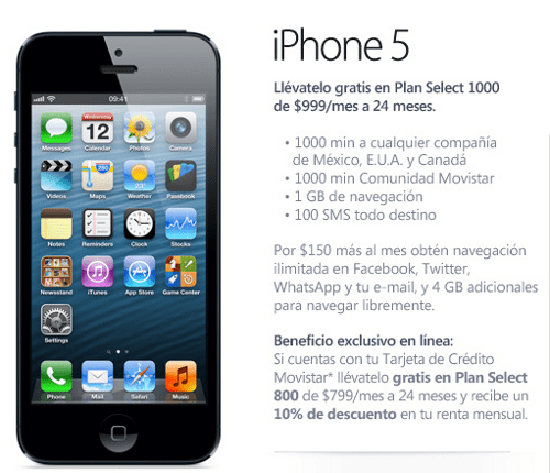 iPhone 5 en México