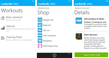 Runtastic-Windows-Phone aplicacion
