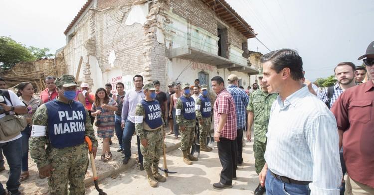 Rescates en Ciudad de México; reconstrucción en Chiapas y Oaxaca