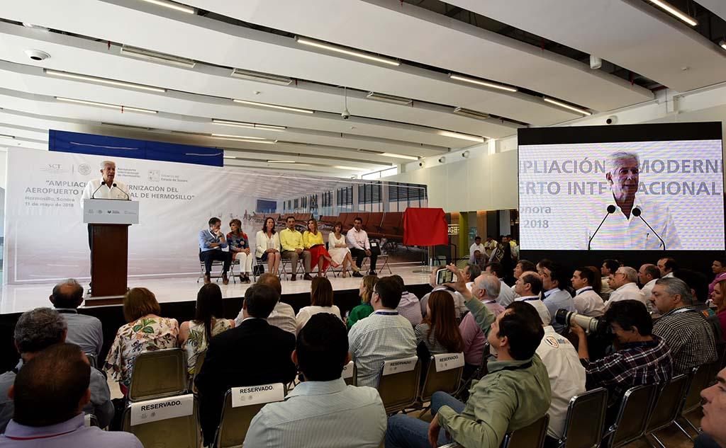Inaugura SCT ampliación y modernización del aeropuerto de Hermosillo