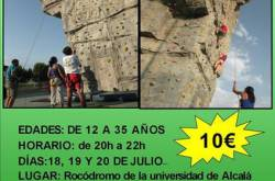 El Ayuntamiento ofrece unos cursos para jóvenes de iniciación a la escalada deportiva