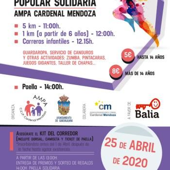 V CARRERA POPULAR AMPA CARDENAL MENDOZA 25 ABRIL 2020