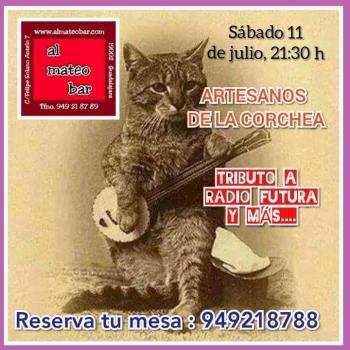 Actuación Artesanos de la Corchea: «Tributo a Radio Futura»