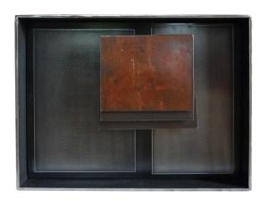 BMS 1 acier et pigment 27 par 35 par 6 cm 2018 - Artiste Plasticienne Noiseau & Val de Marne 94
