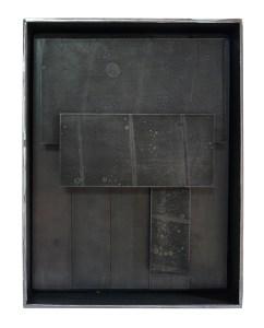 BMS 2 acier pigmenté 35-27-8 cm - Artiste Plasticienne Noiseau & Val de Marne 94