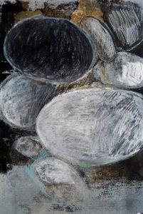 galet litho 3 - Artiste Plasticienne Noiseau & Val de Marne 94