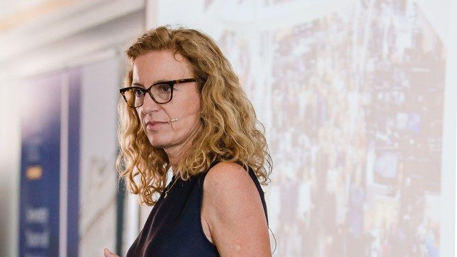 Naja Nielsen at the 2018 Salzburg Academy on Media and Global Change (Credit: Katrin Kerschbaumer/Salzburg Global Seminar)