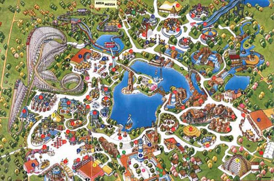 Mappa Mirabilandia 1995