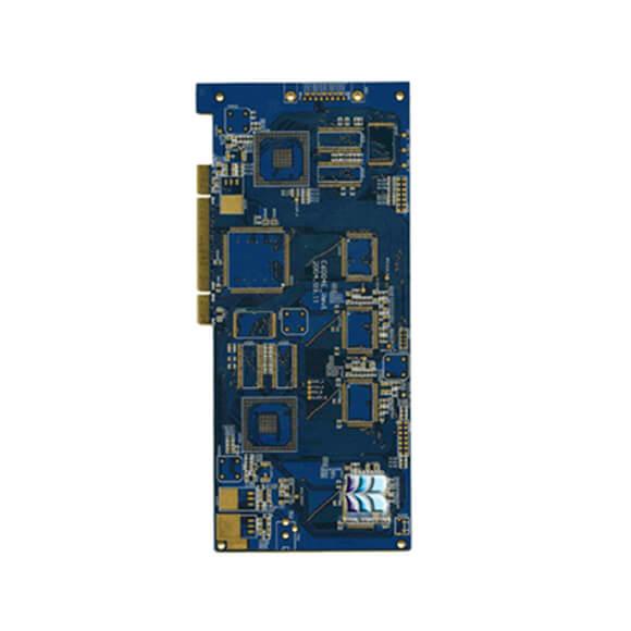 Custom Blue PCB Golden Finger Circuit Board Manufacturer