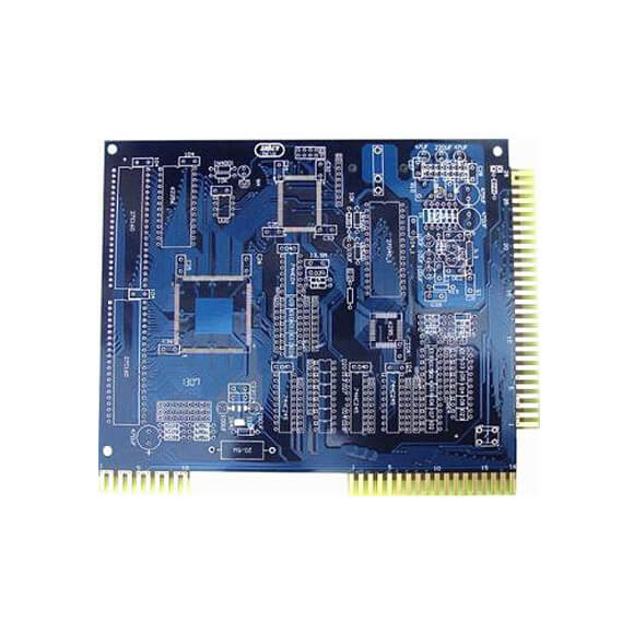Custom Blue PCB Golden Finger Circuit Board Manufacturer
