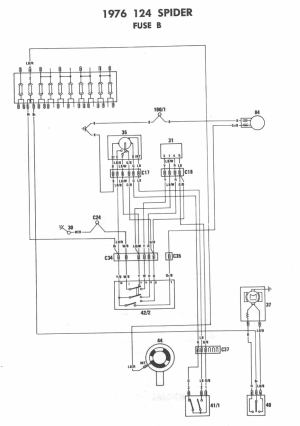 1976 Fiat Spider Wiring Diagrams