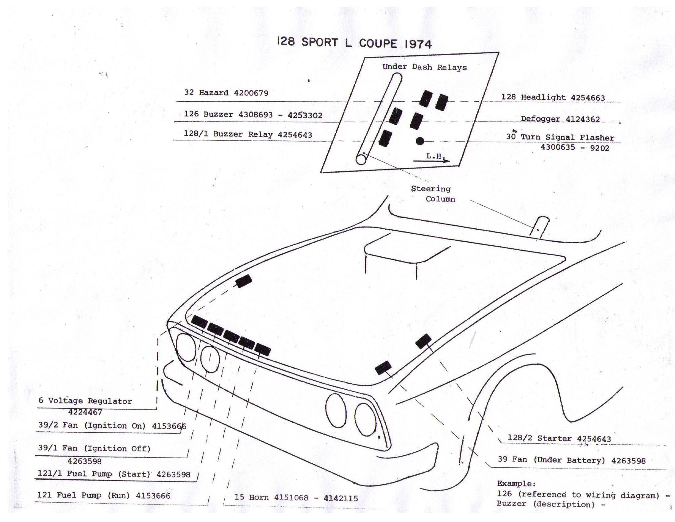 Fiat 128 Wiring