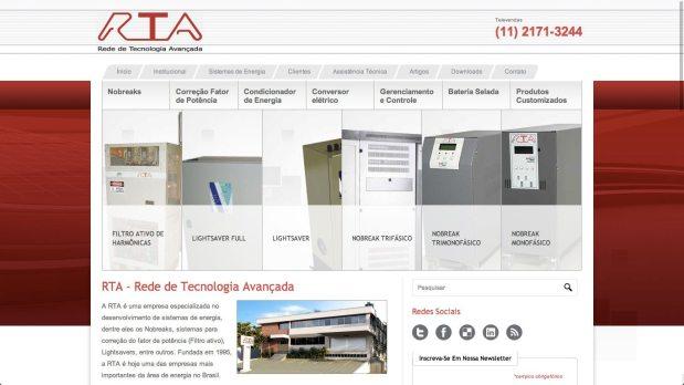Site otimizado para a RTA