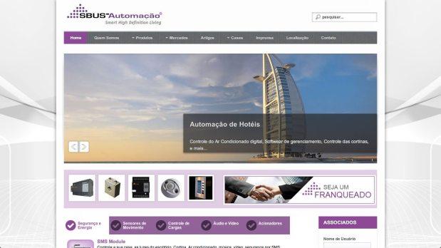 Site otimizado para SBUS Automação