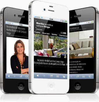 Site mobile Marília Veiga