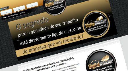 Criação de site para a Digital Master