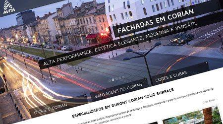 Desenvolvimento de site otimizado para Avitá Design