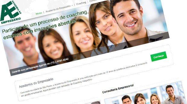 Criação de site para a Academia do Empresário