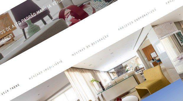 Criação de site responsivo para Decoradora de Interiores