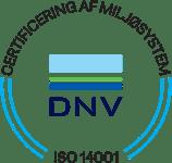 Miralix er certificeret af DNV efter ISO 14001 standarden