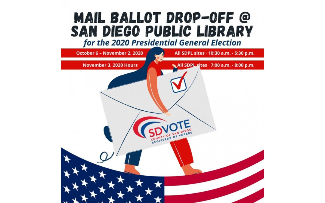 Drop Off Mail Ballots at Library