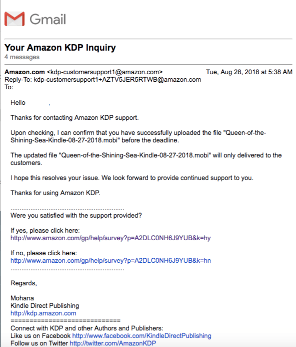 Email from KDP confirming they'd send the right file... and they still didn't!