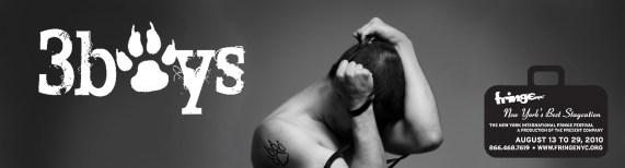 3boys, web banner, new york fringe, man, male