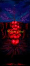 surreal art, tree made of hearts, digital art, digital painting