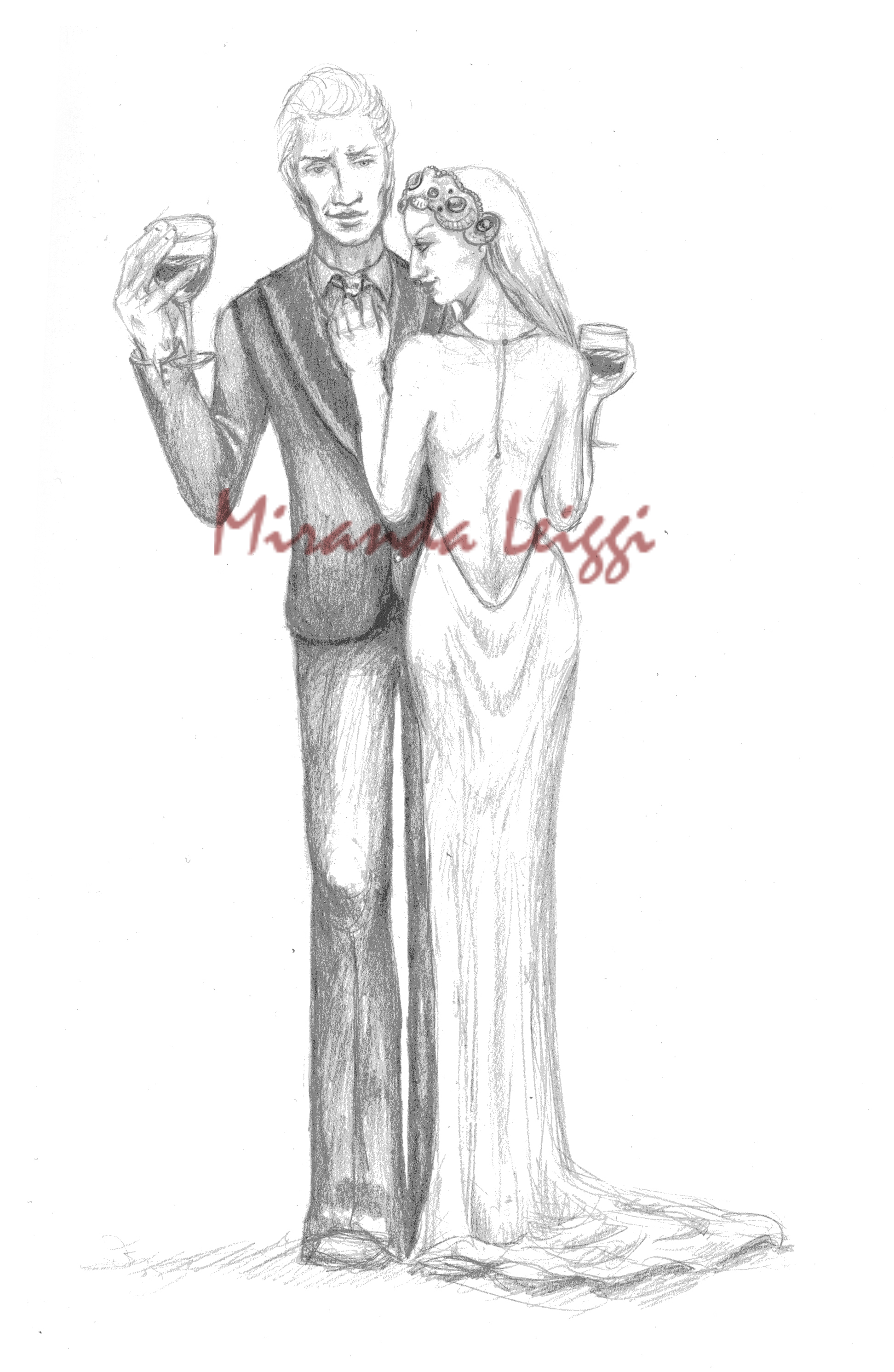 formal wear, vampires, wine glass, pencil