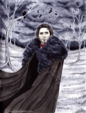 Robb Stark, george r r martin, HBO, Richard Madden, storm of swords, fan art, copic markers, game if thrones, song of ice and fire, crows