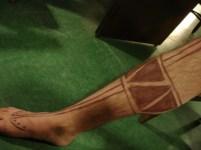 Caliban, the tempest, Shakespeare, tribal tattoos, Maori tattoos, war paint, theatrical makeup