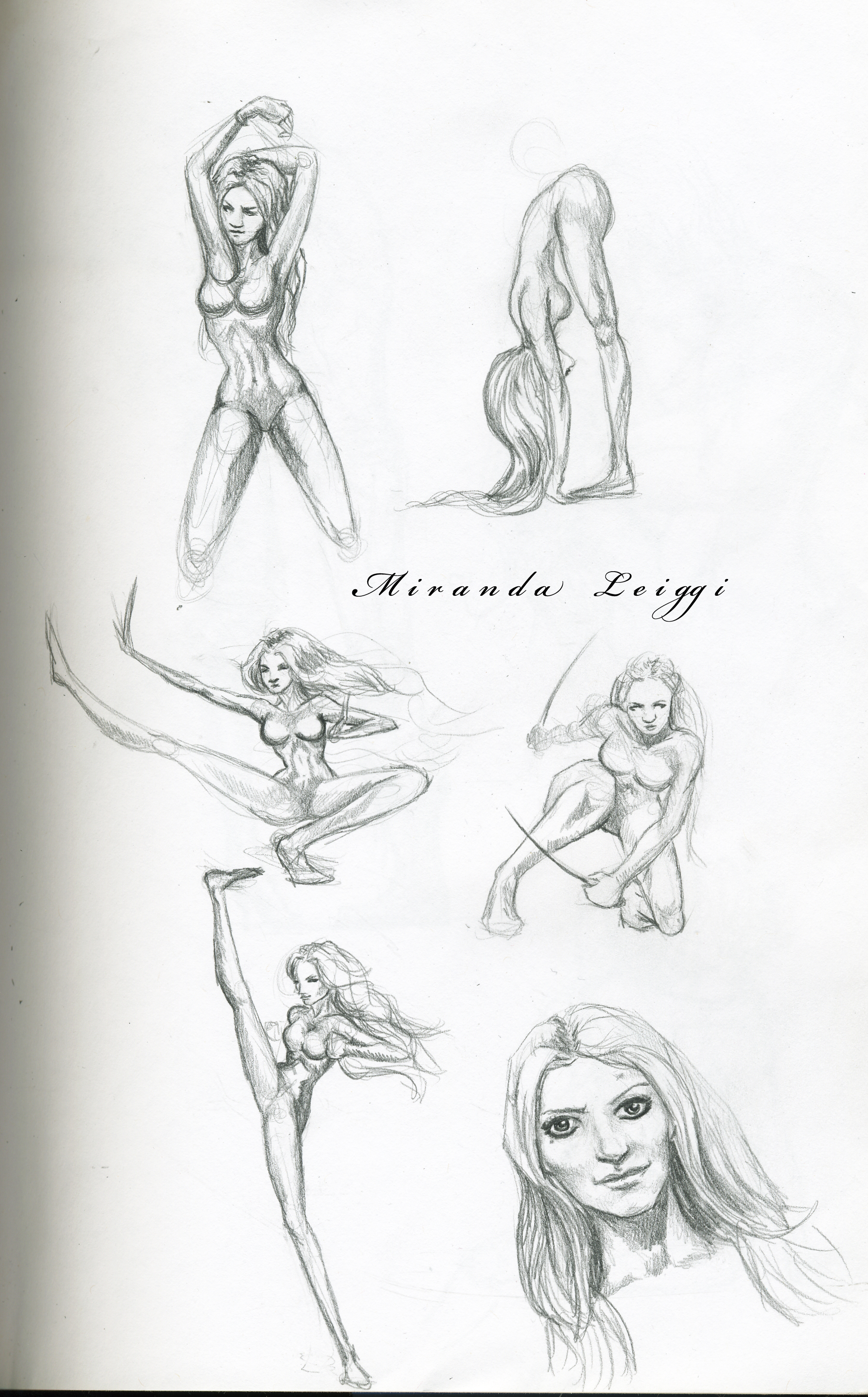 sketch, sketches, poses, female, females, fight scene
