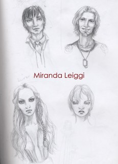 sketches, face studies, male, female