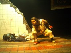 trauma, wound, sfx make up, special effects makeup, gender change, girl to boy, woman to man, dread locks, homeless, subway station