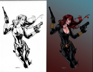 marvel, black widow, natasha romanoff, natasha romanova, natalia romanova, colors, coloring, color, colorist, ink, black and white