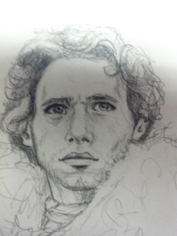 game of thrones, robb stark, sketch, drawing